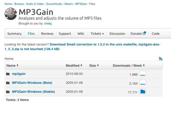 Subir el volumen a un MP3 con MP3Gain