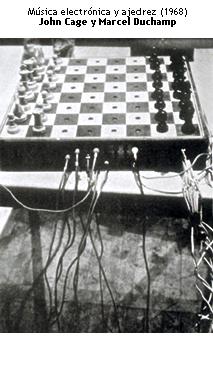 Música electrónica y ajedrez - John Cage y Marcel Duchamp