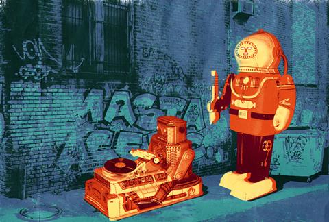 robot grafitti