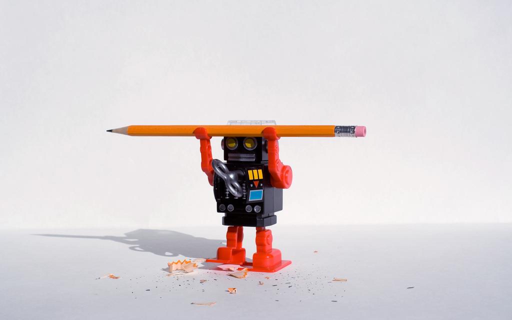 robot lapicero
