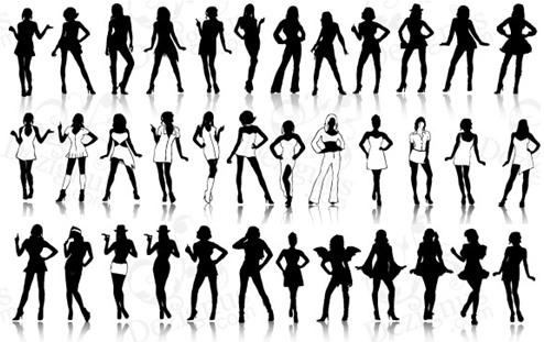 siluetas-mujer-vectores
