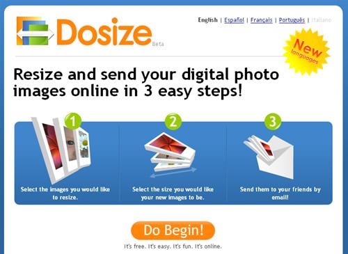 dosize redimensionar imagenes en linea