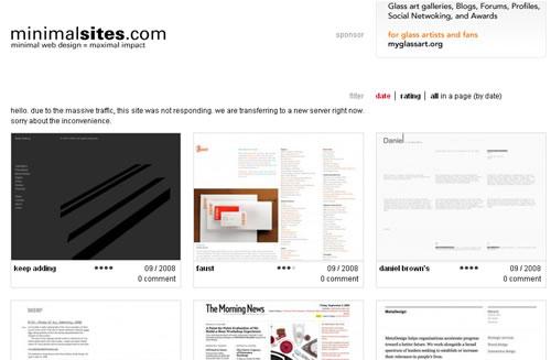 sitios minimalistas
