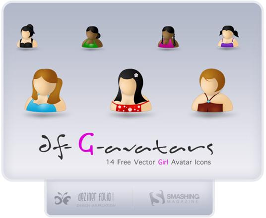 avatares vectorizados psd