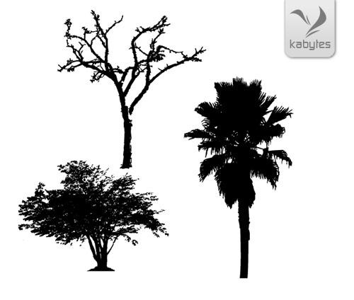 Siluetas de árboles - Digital Artist Toolbox
