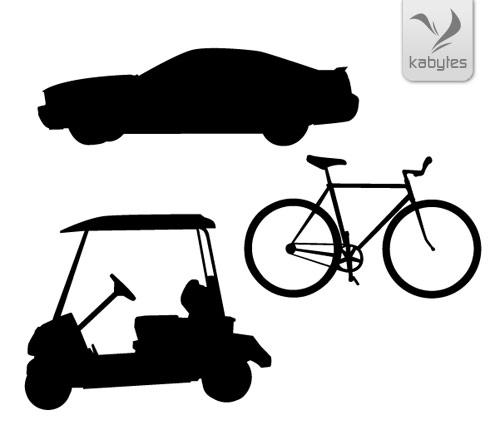 Siluetas de medios de transporte