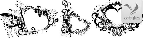 Frames de corazones ornamentales