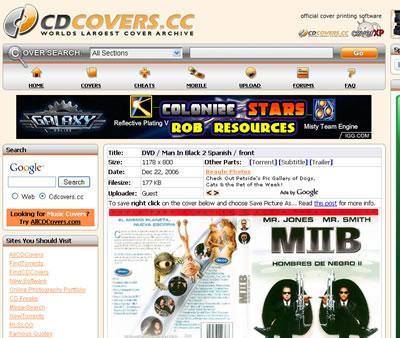 Descargar carátulas para DVDs