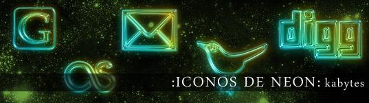 Iconos de neon