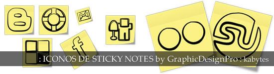 Iconos de Sticky Notes