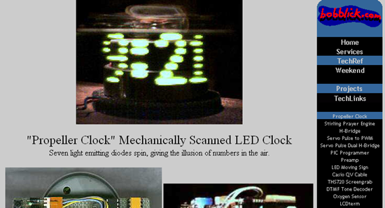 reloj led circuito