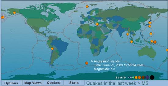 terremotos tiempo real