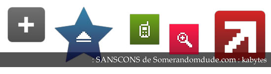 Sanscons: iconos pixel para descargar