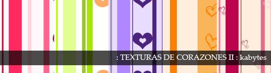 Texturas con corazones