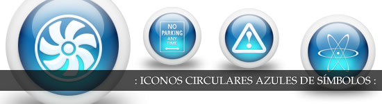 Iconos circulares glossy