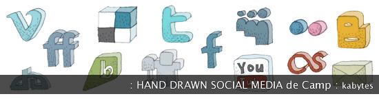 Iconos dibujados a mano