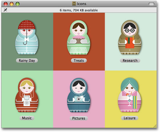 Iconos mamuschkas gratis