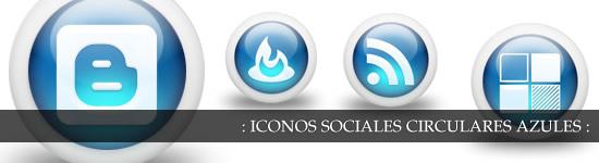 Iconos glossy circulares