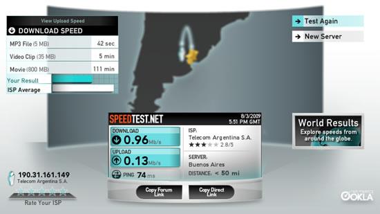 test velocidad en linea