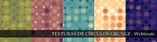 Texturas de círculos grunge