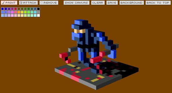 art pixel 3d