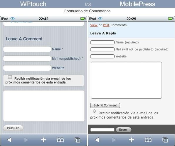 formulario comentarios