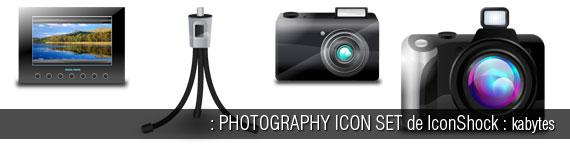 Iconos sobre fotografía