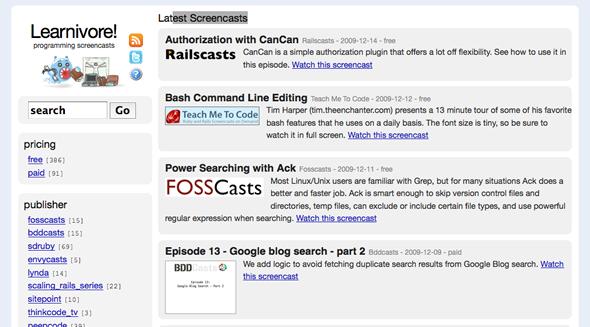 screencasts programacion