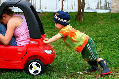 empujar coche