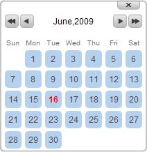 javascript calendario