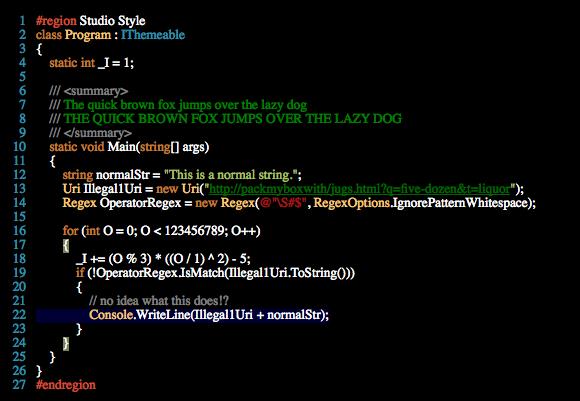 esquema colores programacion