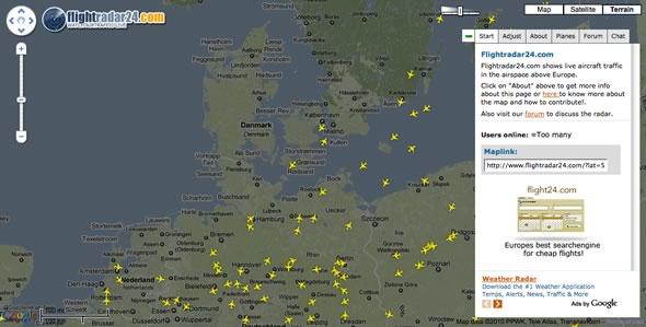 trafico aereo tiempo real
