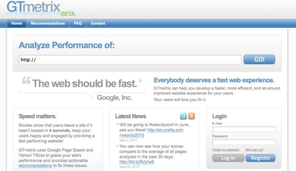 analizar performance sitio