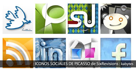 Sitio Del Día Picons Iconos De Redes Sociales Para: Iconos Sociales De Picasso