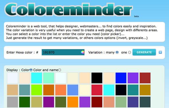 color complementario