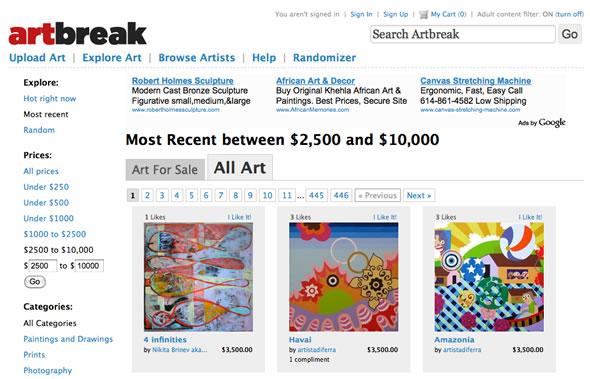 vender obras de arte por internet