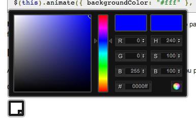 seleccionar color jQuery