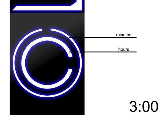 Reloj inspirado en Tron