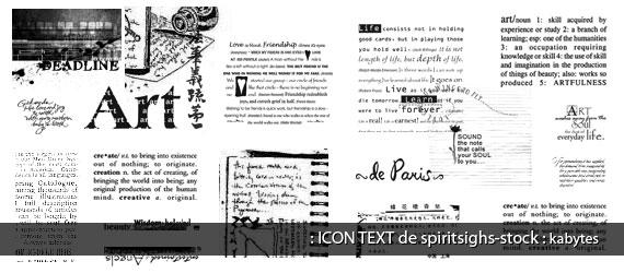 Textos decorativos