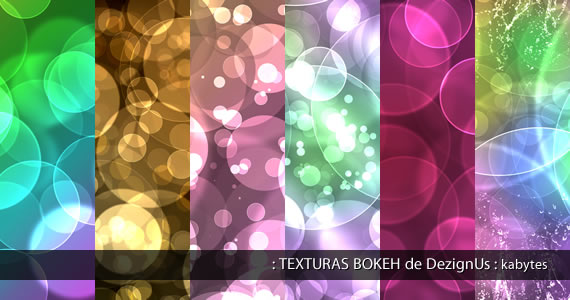 Texturas de brillos desenfocados o bokeh