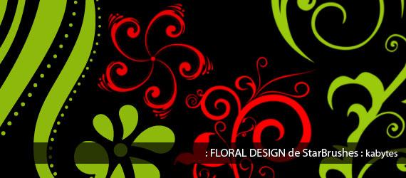 Brushes De  Posiciones Florales Y Ornamentos