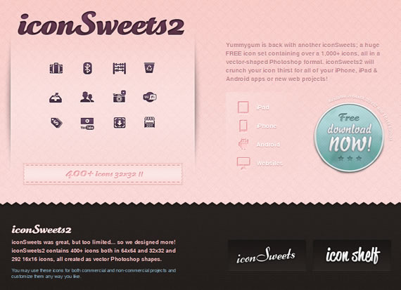 Iconos letterpress