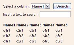 busca tabla contenido