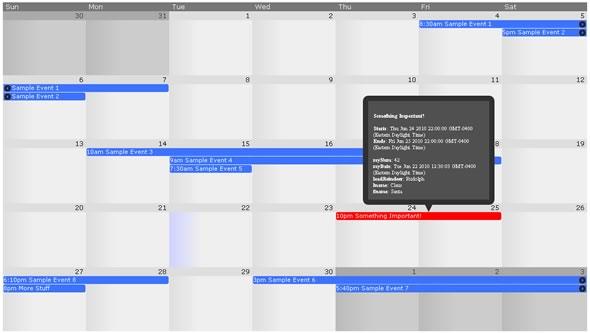 calendario jquery