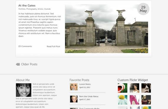 Pagina princpial con slider destacado superior con texto a la izquierda y fotografia a la izquierda.