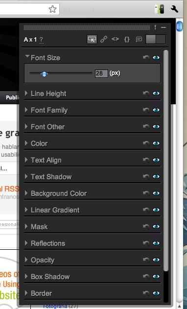 editar aspecto de un sitio directamente desde Chrome