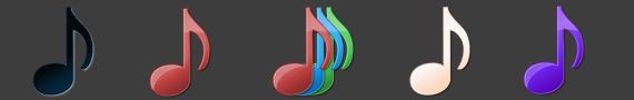 Iconos de música