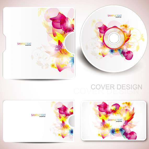 Vista previa del diseño de sobre y CD con tarjeta accesoria