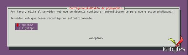 configuracion phpmyadmin
