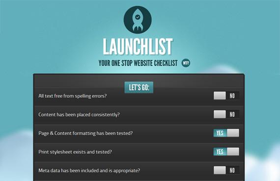 Lista de tareas previas al lanzamiento de un sitio